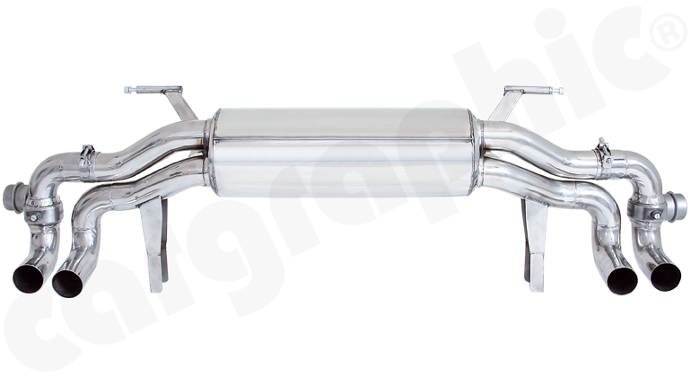 Audi R8 (typ 42) V10 - Cargraphics Sport Rear Silencer with Flaps
