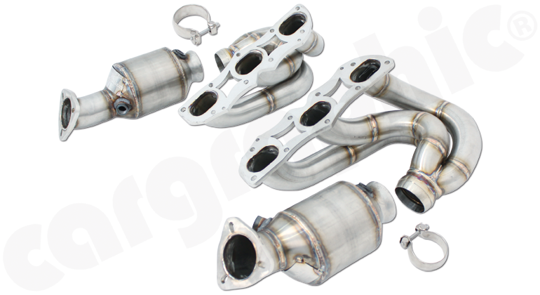 Porsche 987.2 Boxster / Cayman - Cargraphic New Generation Long Tube Manifold Set