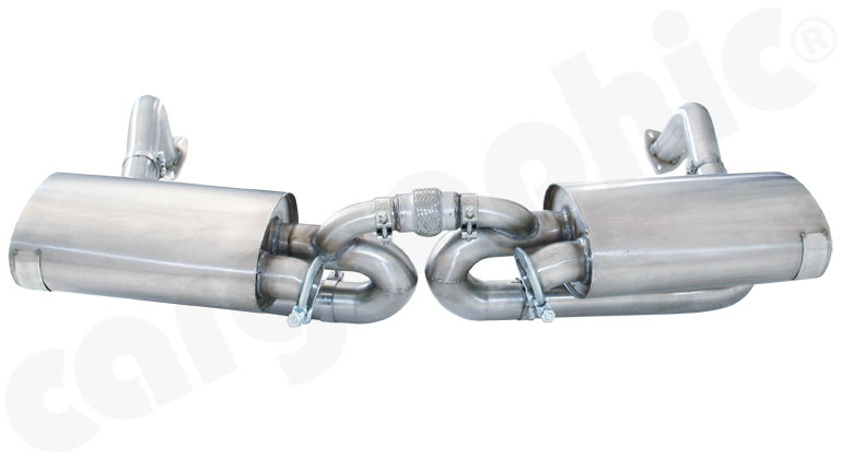 Porsche 987.1 Boxster / Cayman - Cargraphic Sport Rear Silencer Set