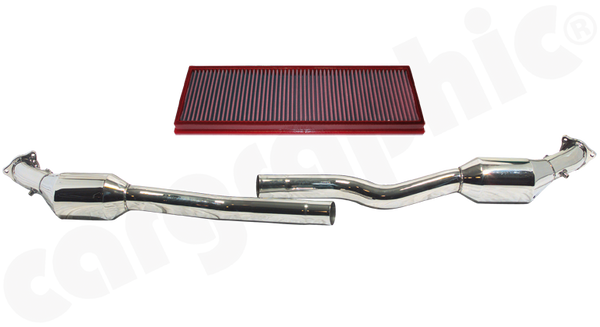 Porsche 996 GT3 MK1 - Cargraphic Sport Catalytic Converter Set  Crossover Version - SportsCarBoutique