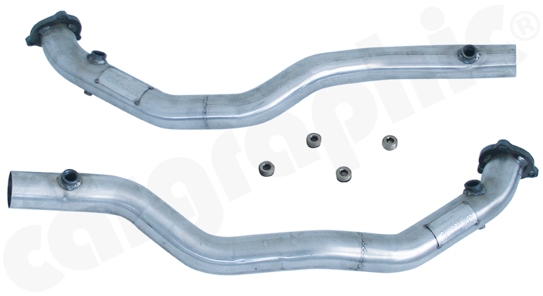Porsche 996 GT3 MK1 - Cargraphic Catalytic Converter Replacement Pipe Set Crossover Version