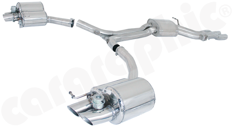 Audi (B8) RS4 - Cargraphic Sport Exhaust System with Flaps