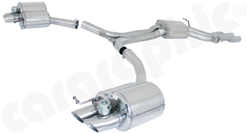 Audi (B8) RS4 - Cargraphic Sport Exhaust System with Flaps - SportsCarBoutique