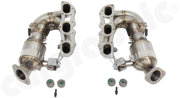 Porsche 981 Boxster / Cayman - Cargraphic New Generation Long Tube Manifold Set - SportsCarBoutique