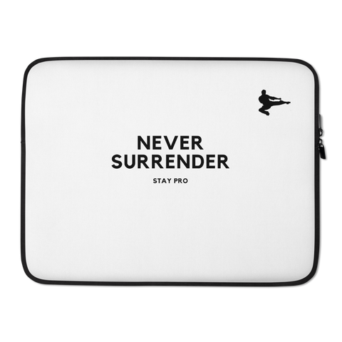 "PRO ""NEVER SURRENDER "" Laptop Sleeve"
