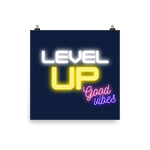 Level Up navy Poster