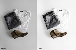PRODUCT PHOTOGRAPHY WHITE BG LIGHTROOM PRESETS