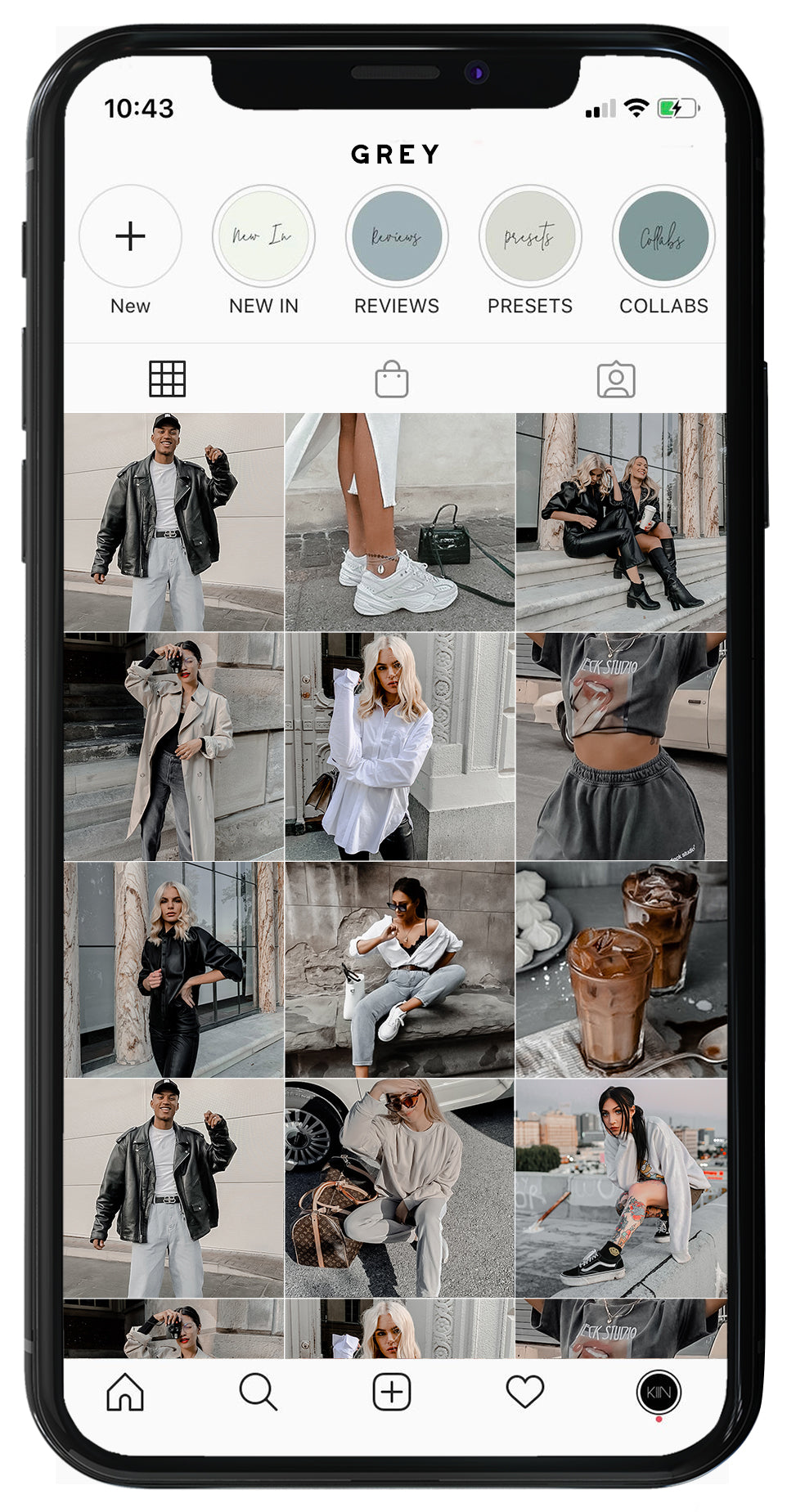 10 LIGHTROOM MOBILE MINIMAL BLOGGER GREY PRESETS