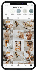 5 WARM & COZY LIGHTROOM MOBILE PRESETS