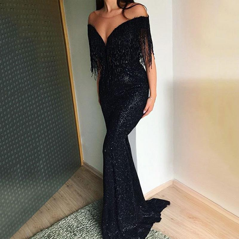 Sexy V-Neck Sleeveless Slim Maxi Evening Dress