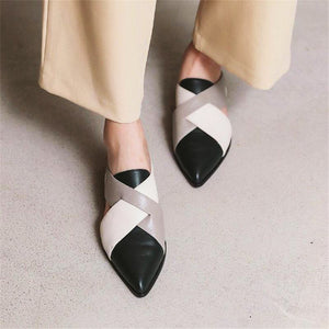 Wild Black And White Contrast Sandals And Slippers