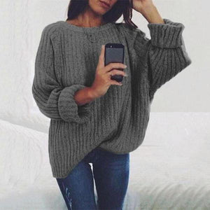 Pure Color Big Circle Collar Long Sleeve Head Sweater