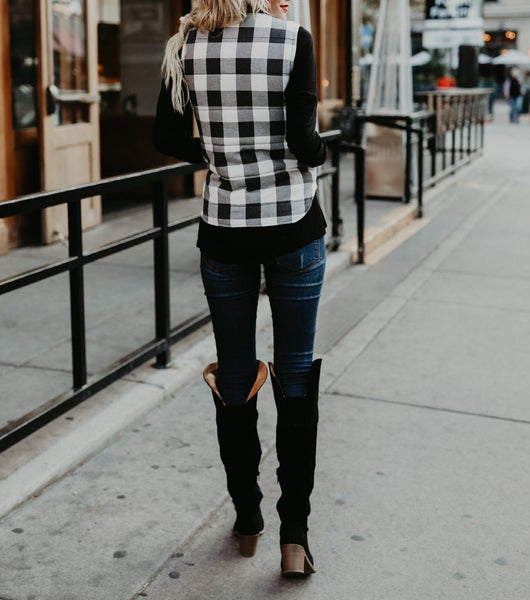 Fashion Plaid Quilted Warm Vest