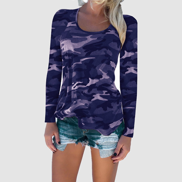 Fashion Camouflage Long-Sleeved T-Shirts