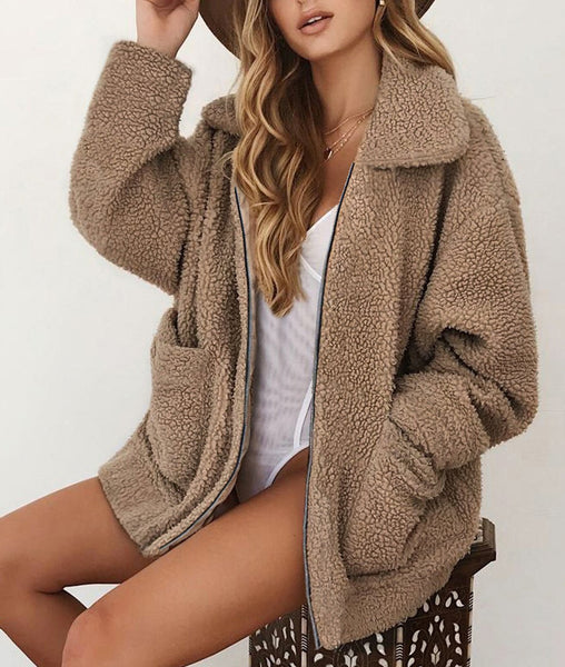 Autumn And Winter Casual Plush Warm Coats