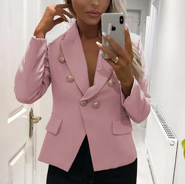 Fashion Turndown Collar Pure Colour Little Jacket
