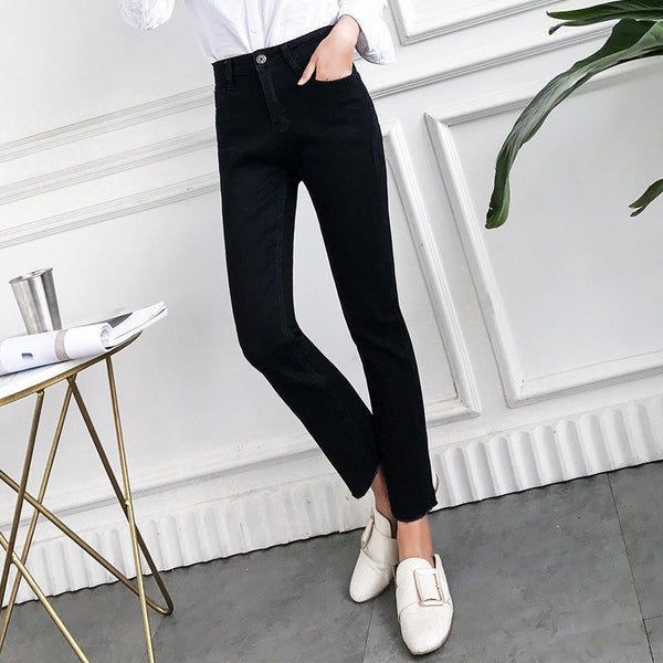 Fashion Slim Show   Thin  Elastic Jeans Pencil Pants   Straight Trousers