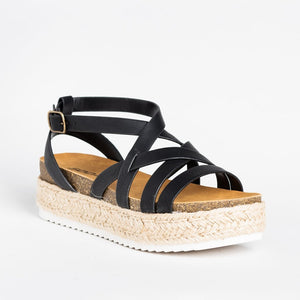 Fashion Linen Weaving Open-Toed Hollow-Out Sandal