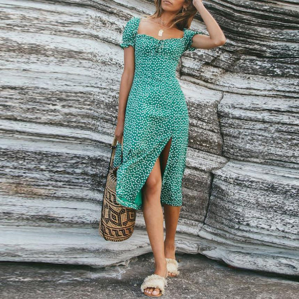 Fashion Sexy Snowflake Long  Vacation Dress