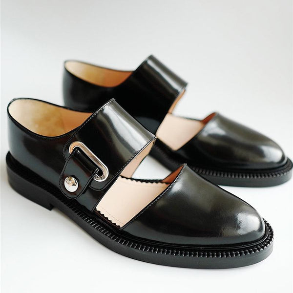 Comfortable Flat Bottom Round Side Shoes