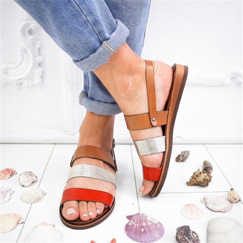 Summer Flat Color Matching Women's Shoes