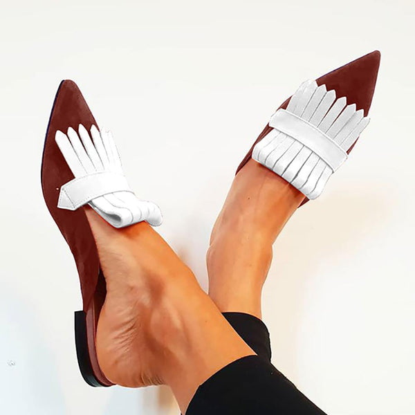 Women's Casual Pointed Contrast Flats