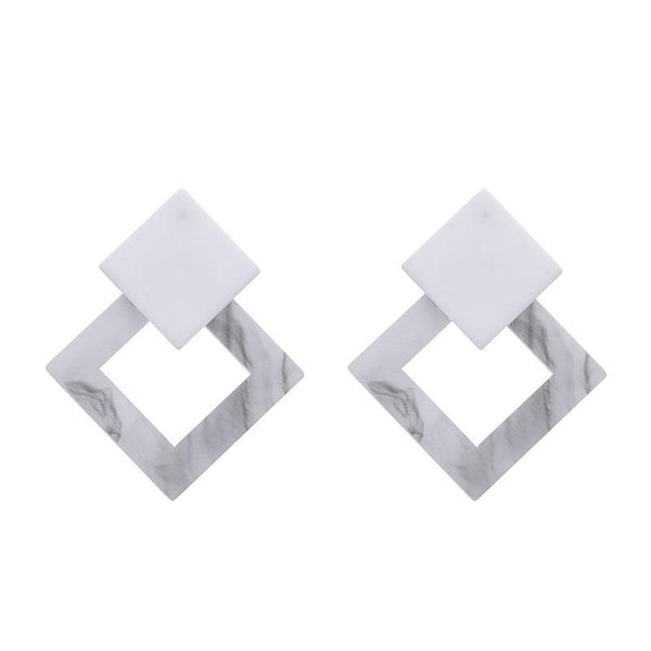 Simple and stylish personality geometric earrings