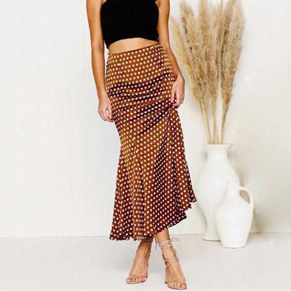 Fashion New Polka Dot Half-Length Fishtail Skirt