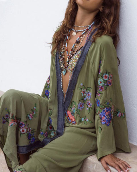 Bohemian Embroidery Cover Ups