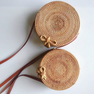 Rattan Grass Weaving Bamboo Basket Weaving Travel Holiday Skewer Bag