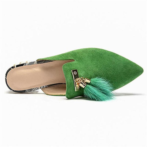 Sweet Pearl Hairy Baotou Slippers
