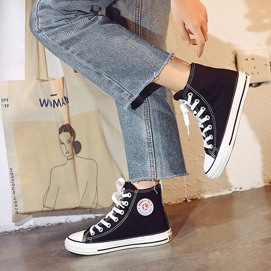 Warmly thickened warm classic high canvas shoes