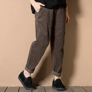 Slim corduroy loose casual trousers