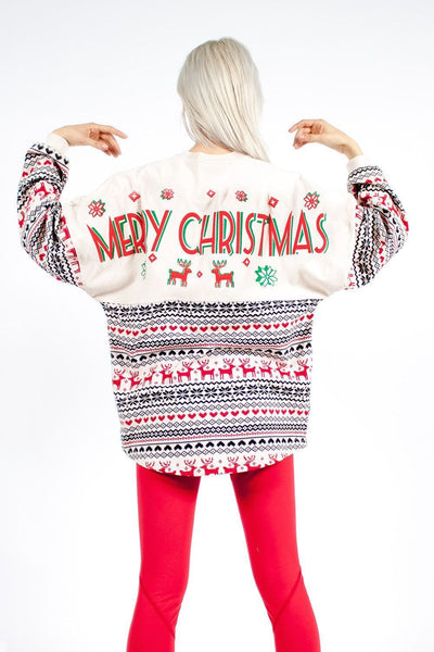 Christmas Printing Long Sleeves Hoodie