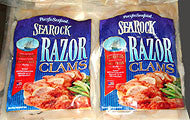 Razor Clam Steaks