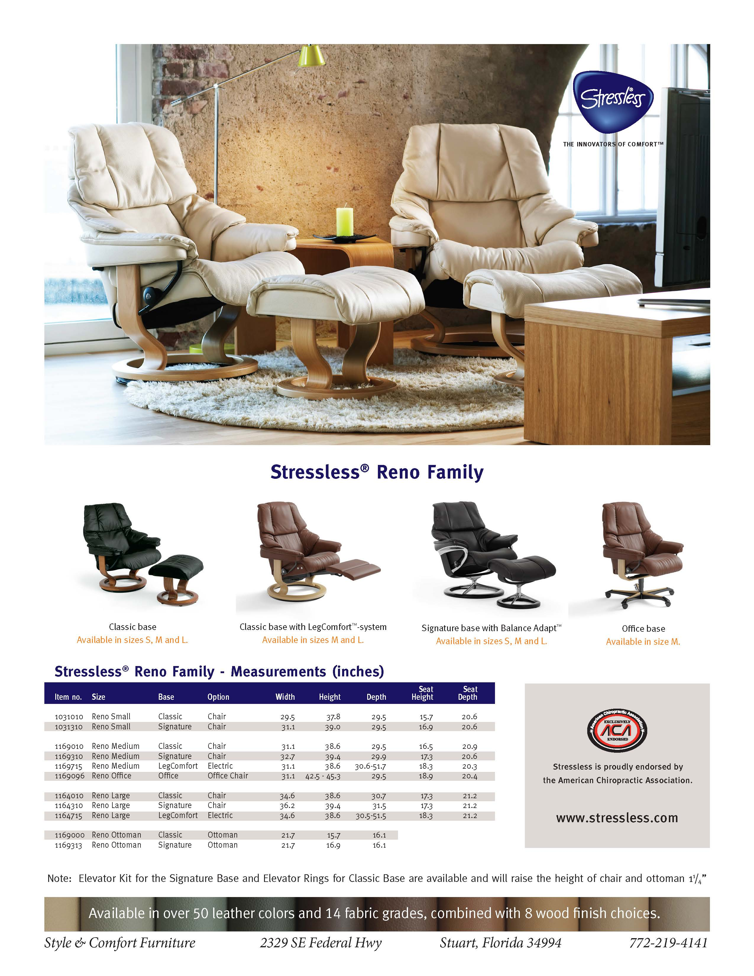 Reno Recliner Style And Comfort Furniture