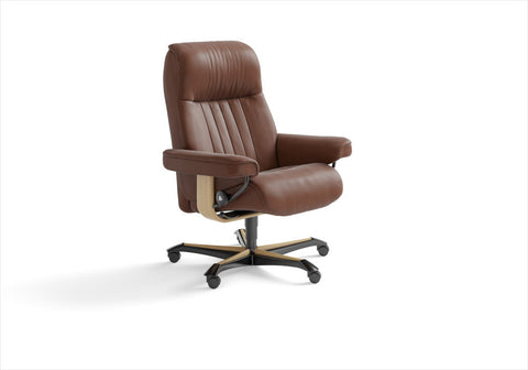 Buy the Stressless Crown office chair in Stuart, Florida.