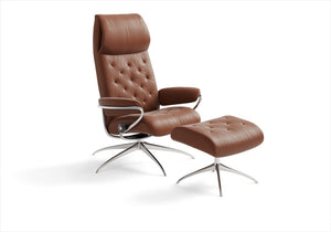 Buy Stressless Metro High-back recliner chair in Stuart, Florida.