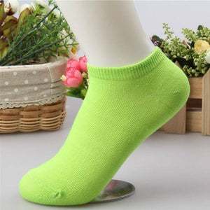 10 pcs Cute Candy Color Socks  -  Green / Free Size  -  Socks  - SNS Outlet