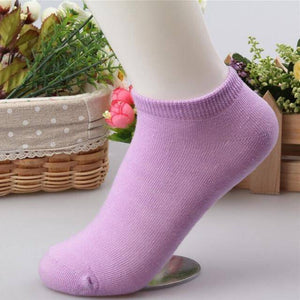 10 pcs Cute Candy Color Socks  -  Light purple / Free Size  -  Socks  - SNS Outlet