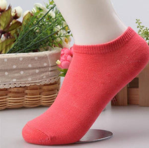 10 pcs Cute Candy Color Socks  -  Red / Free Size  -  Socks  - SNS Outlet