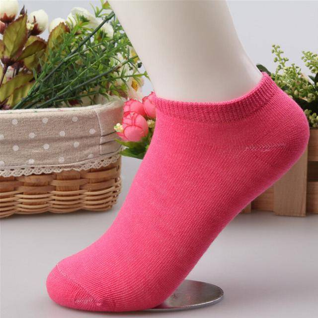 10 pcs Cute Candy Color Socks  -  Rose / Free Size  -  Socks  - SNS Outlet