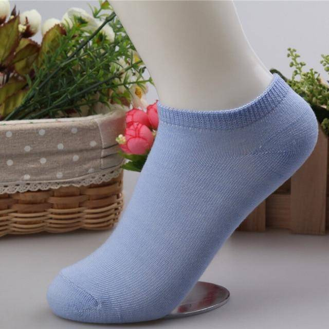 10 pcs Cute Candy Color Socks  -  Sky blue / Free Size  -  Socks  - SNS Outlet