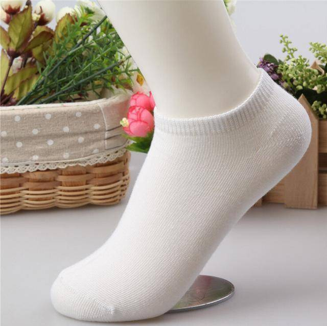 10 pcs Cute Candy Color Socks  -  White / Free Size  -  Socks  - SNS Outlet