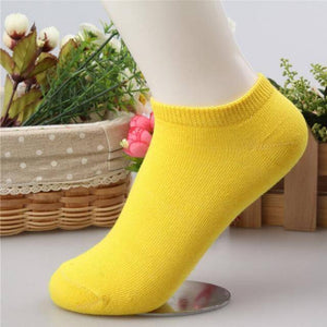 10 pcs Cute Candy Color Socks  -  Yellow / Free Size  -  Socks  - SNS Outlet