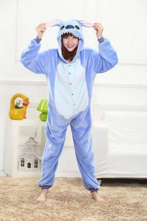 Animal Pajama Onesie  -  Blue Stitch / S  -  Pajamas  - SNS Outlet