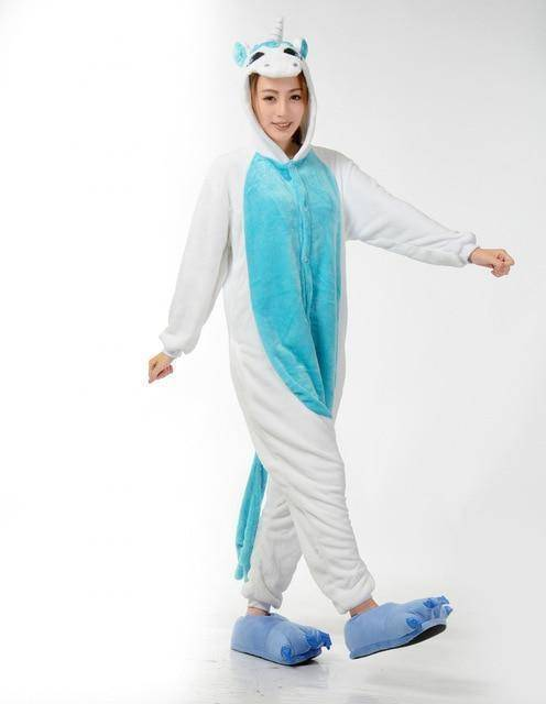 Animal Pajama Onesie  -  Blue unicorn / S  -  Pajamas  - SNS Outlet