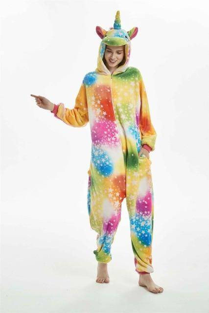 Animal Pajama Onesie  -  Colorfulstar unicorn / S  -  Pajamas  - SNS Outlet