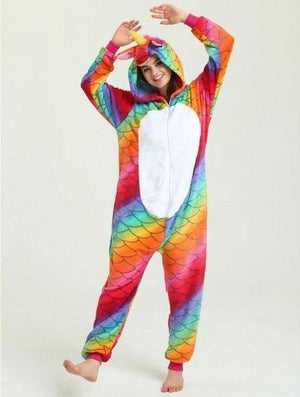 Animal Pajama Onesie  -  Fish scale unicorn 1 / S  -  Pajamas  - SNS Outlet