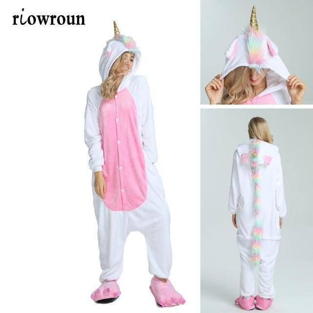 Animal Pajama Onesie  -  Golden horn unicorn / S  -  Pajamas  - SNS Outlet